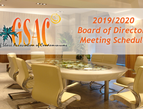 2019-2020 Board of Directors Meeting Calendar